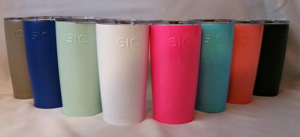 Monogrammed 20 oz SIC cup --- Seriously Ice Cold