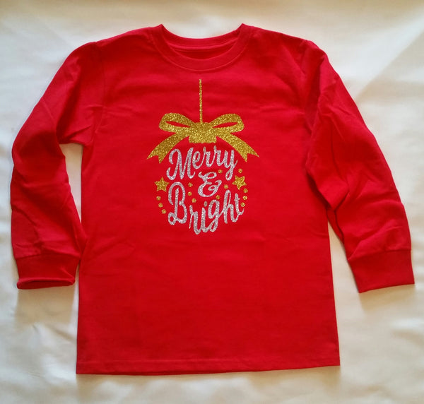 Toddler Merry and Bright Ornament T-Shirt - Christmas Shirt