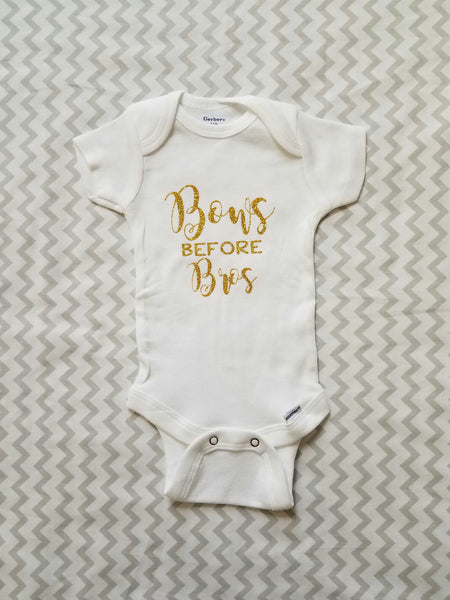 Bows before Bros Onesie