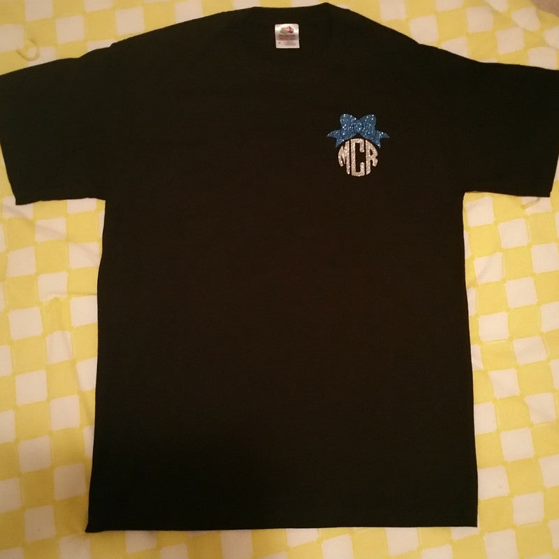 Short Sleeve T-Shirt with Bow Monogram