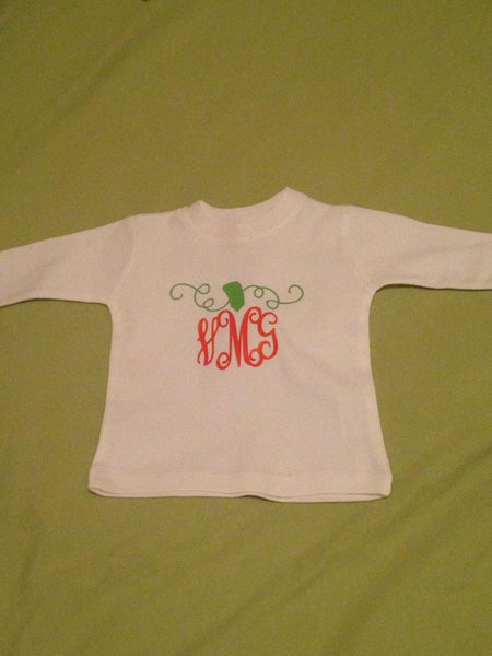 Toddler Pumpkin Monogram Shirt