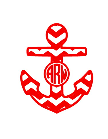 Chevron Anchor Monogram