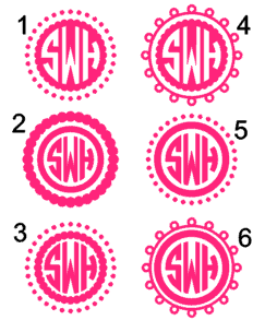 Circle Monogram Decal