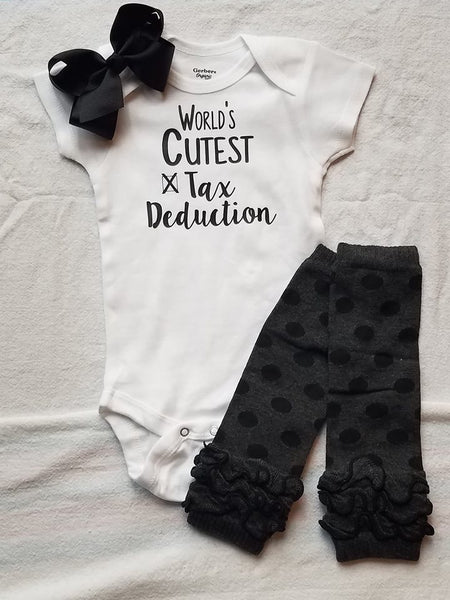 World's Cutest Tax Deduction Onesie