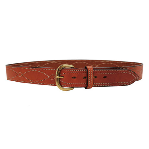 B9 Fancy Stitched Belt Tan  44""