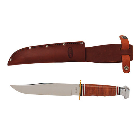 Bowie Stacked Leather Handle