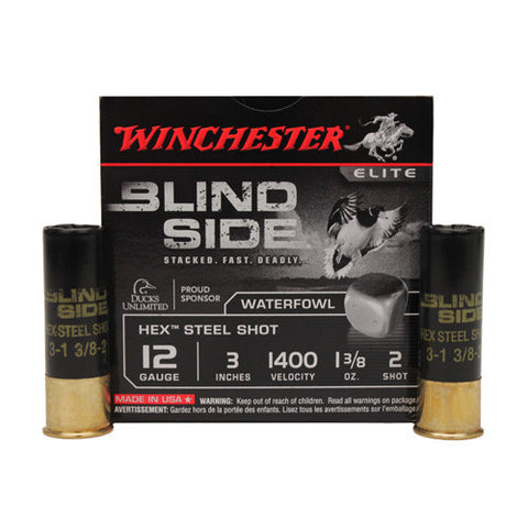 "Blindside 12ga 3"" 2sh Steel /25"