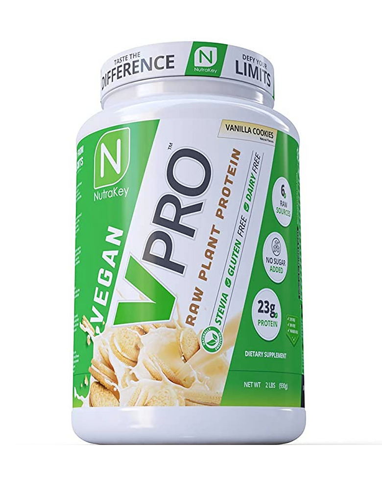 NutraKey V-Pro Raw Plant Based Protein Powder