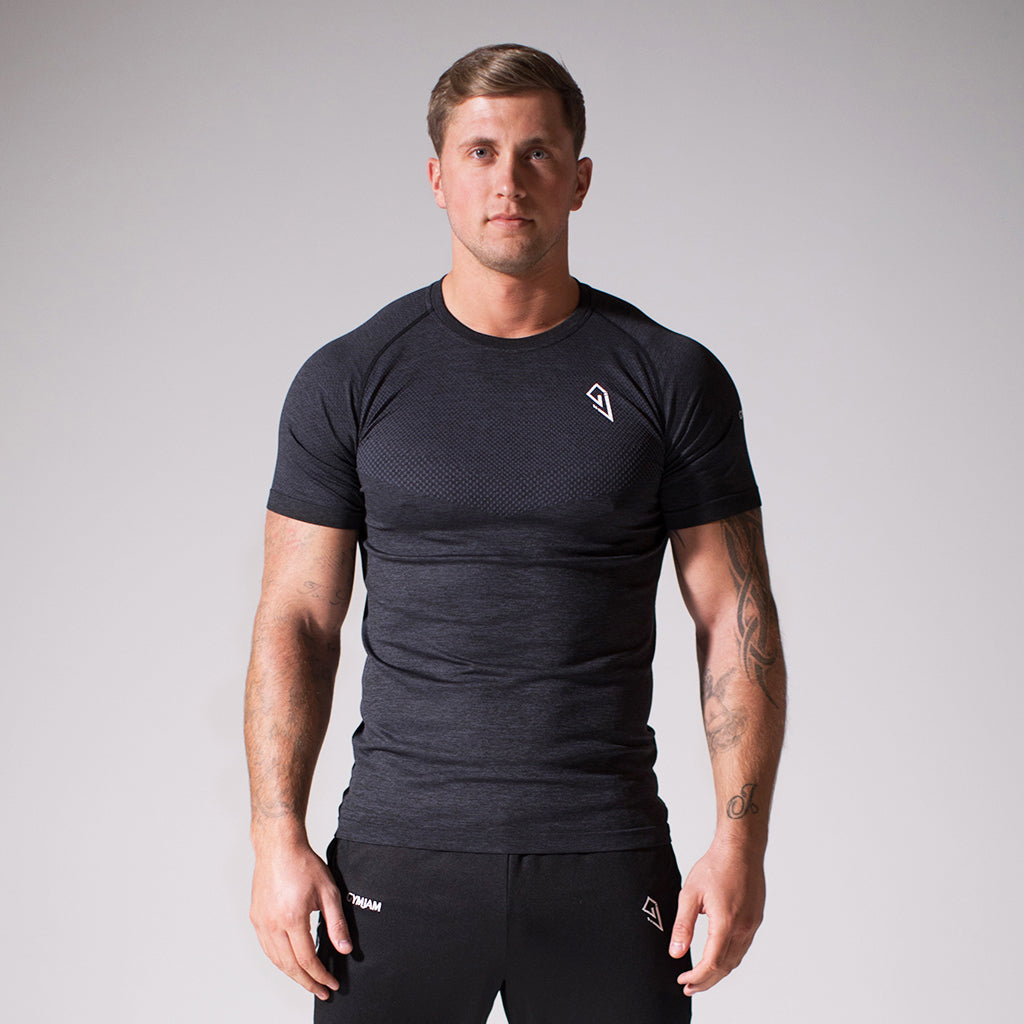 GymJam Seamless Noire Taper-tee