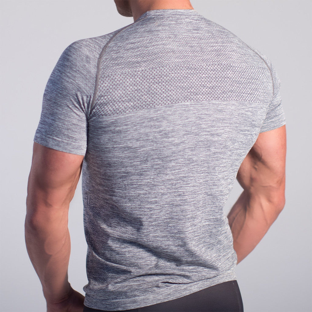 GymJam Seamless Granite Taper-tee