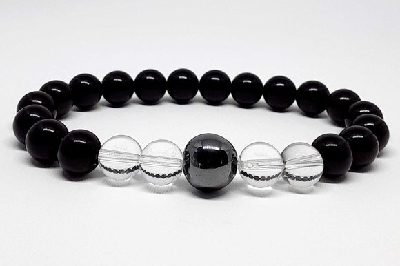 shungite digital detox bracelet | protection | chakra healing crystals