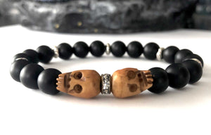 skull bracelet | onyx | the walking dead