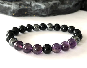 psychic attack shield bracelet | protection | chakra healing crystals