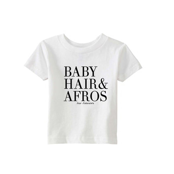 Infant Baby Hair and Afros t-shirt-White or Heather Gray