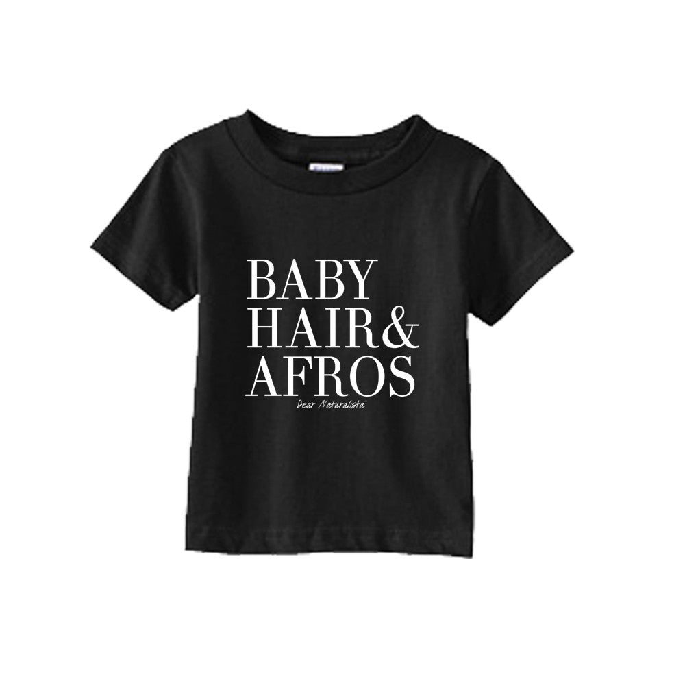 Infant Baby Hair and Afros t-shirt-Black