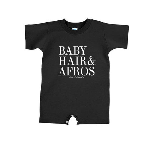 Infant Baby Hair and Afros romper-Black