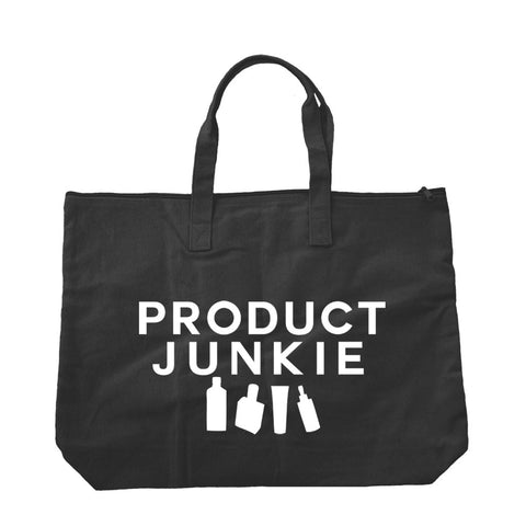 Product Junkie Canvas Zipper Tote Bag