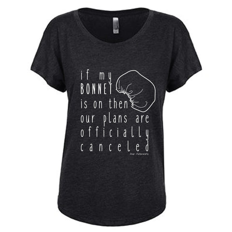 Bonnet on Plans Canceled T-Shirt- Vintage Black