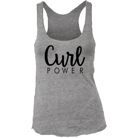 Women's Curl Power Tri-Blend Racerback Tank Top