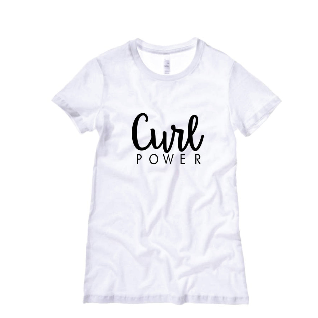 Women's Curl Power T-shirt (Round neck)