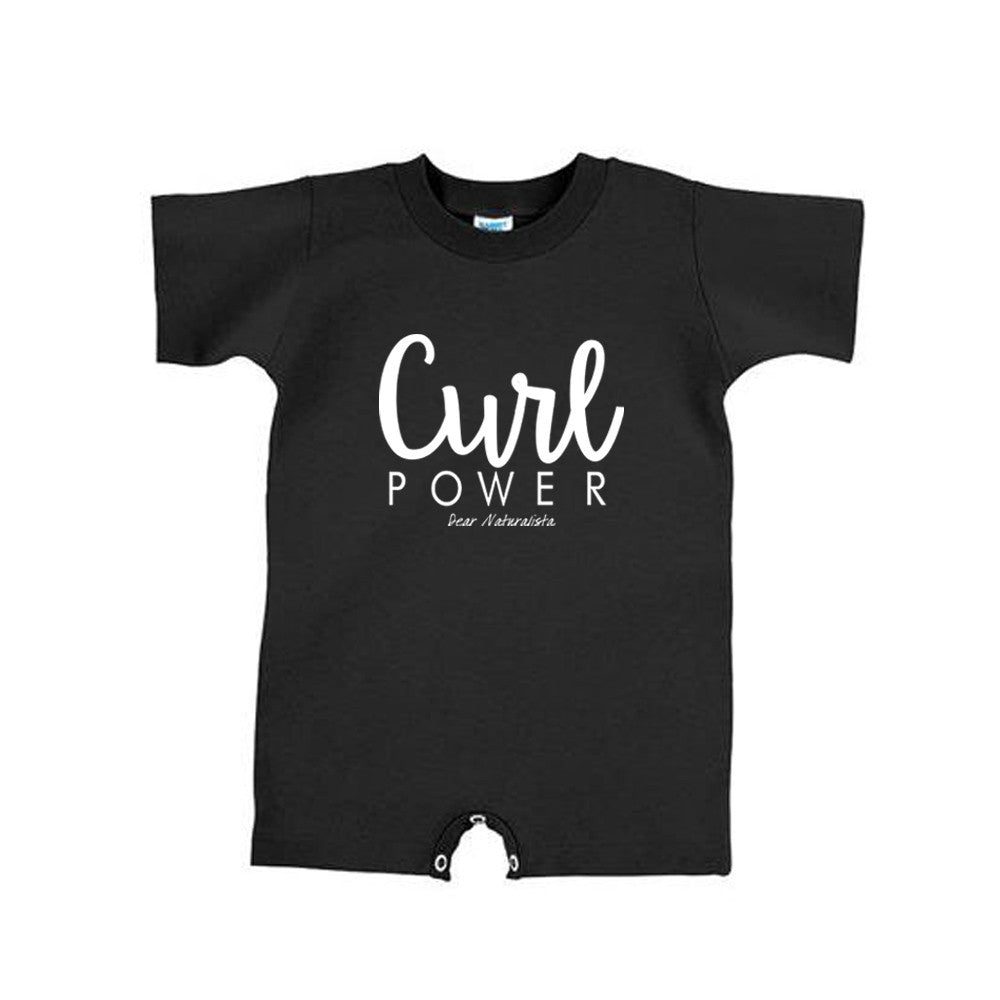 Infant Curl Power Romper-Black