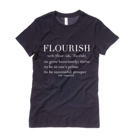 Women's Flourish Definition T-shirt-Black