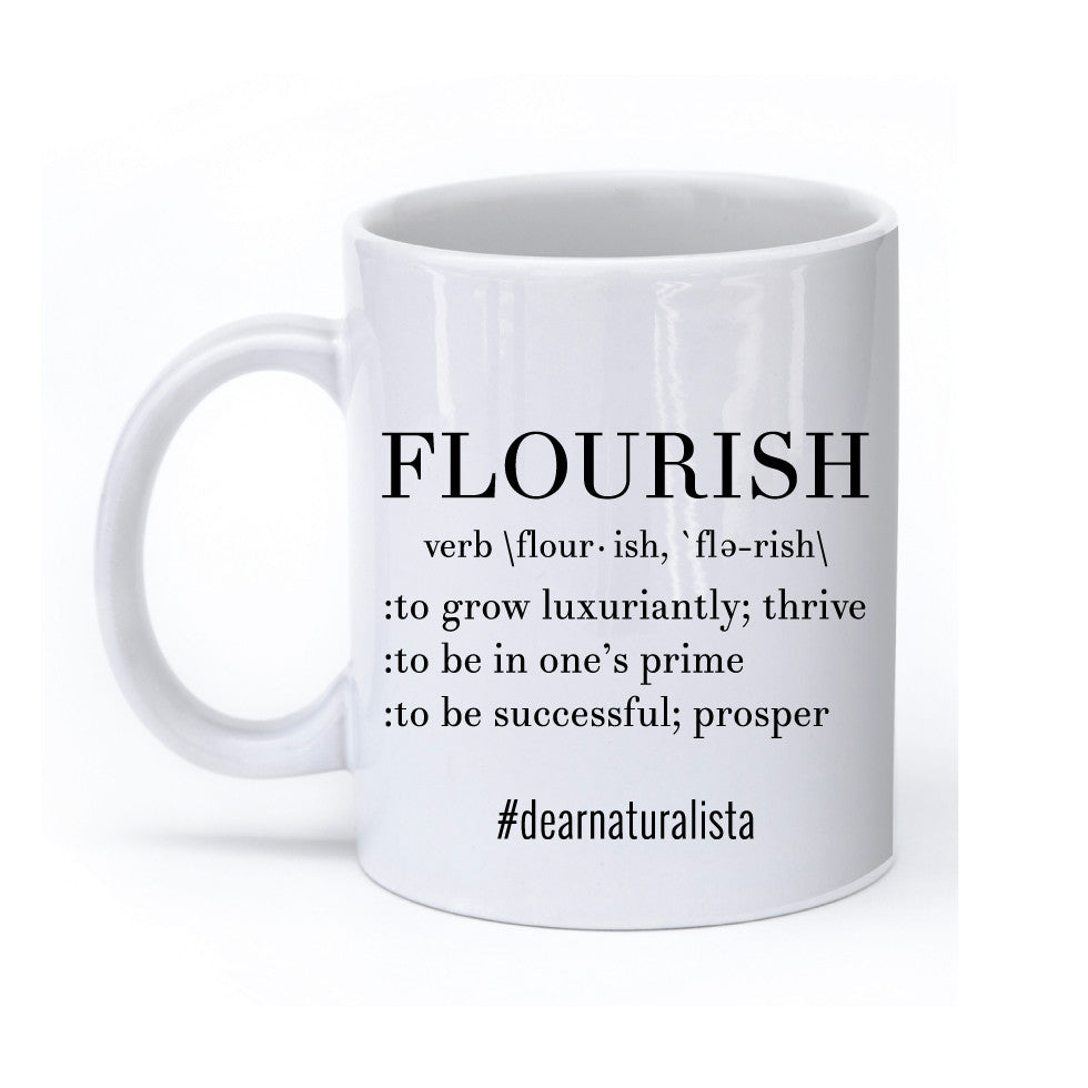 Flourish definition mug