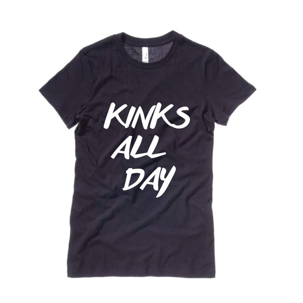 Women's Kinks All Day T-Shirt-Black
