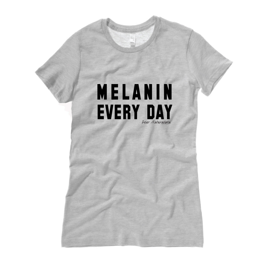 Women's Melanin Everyday T-shirt-White/Gray (2 colors)