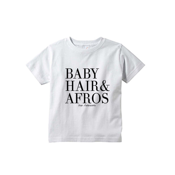 Toddler Baby Hair and Afros t-shirt-White and Heather Gray