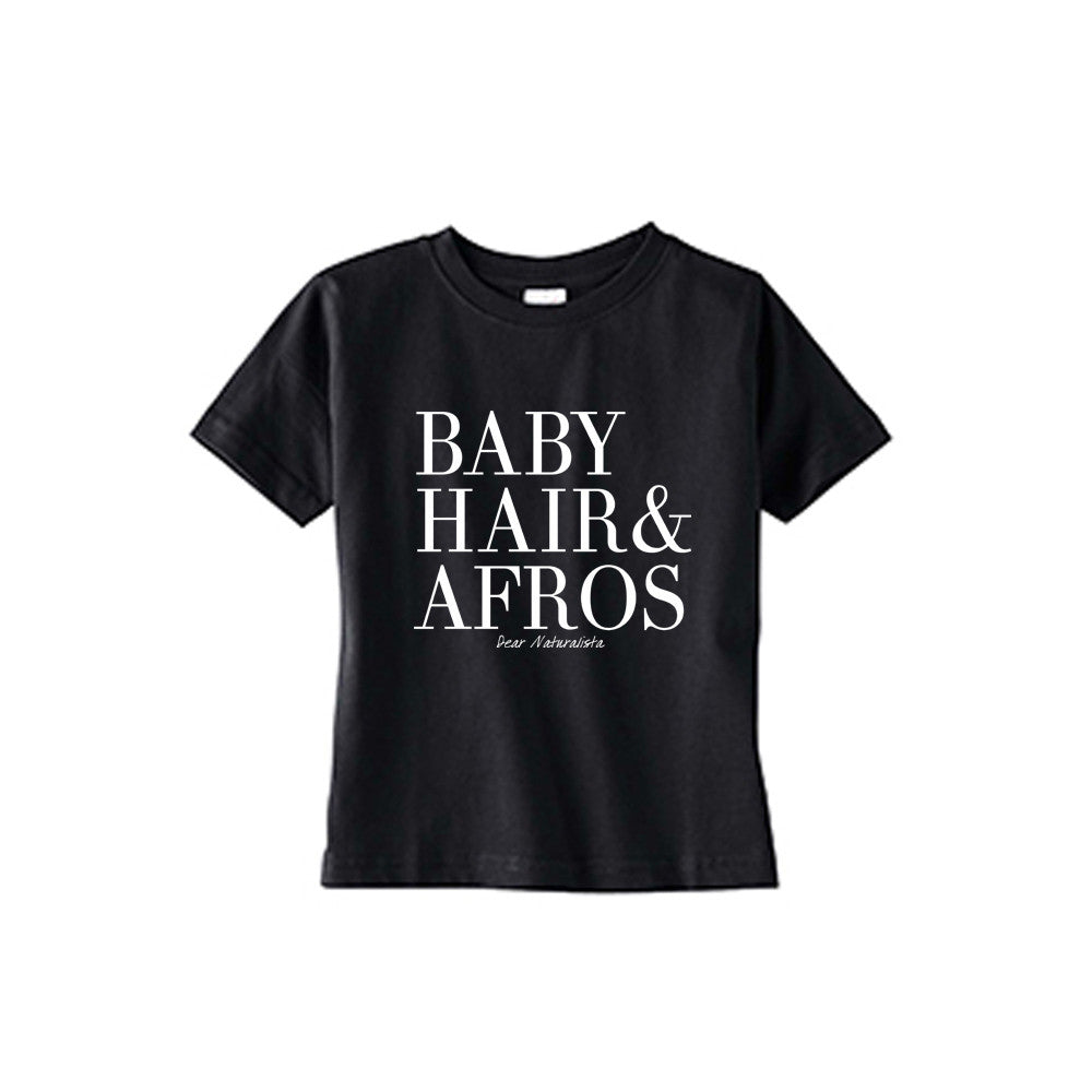 Toddler Baby Hair and Afros t-shirt-Black