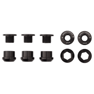 Wolf Tooth Components Chainring Bolts/Nuts for 1x drivetrains - RideCX cyclocross store