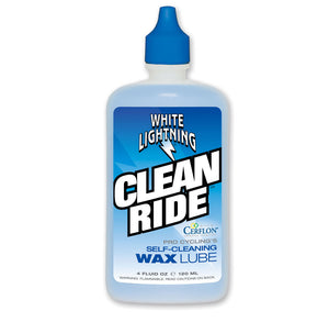 White Lightning Clean Ride 4oz Chain Lube - RideCX cyclocross store