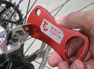 Wolf Tooth Components Bottle Opener with Rotor Truing Slot Tool - RideCX cyclocross store