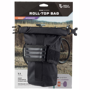 Wolf Tooth Components B-RAD Roll-Top Bag and Strap - RideCX cyclocross store