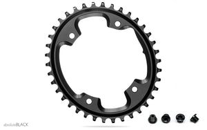 AbsoluteBLACK Oval Cyclocross 1x Chainring for Shimano Cranksets