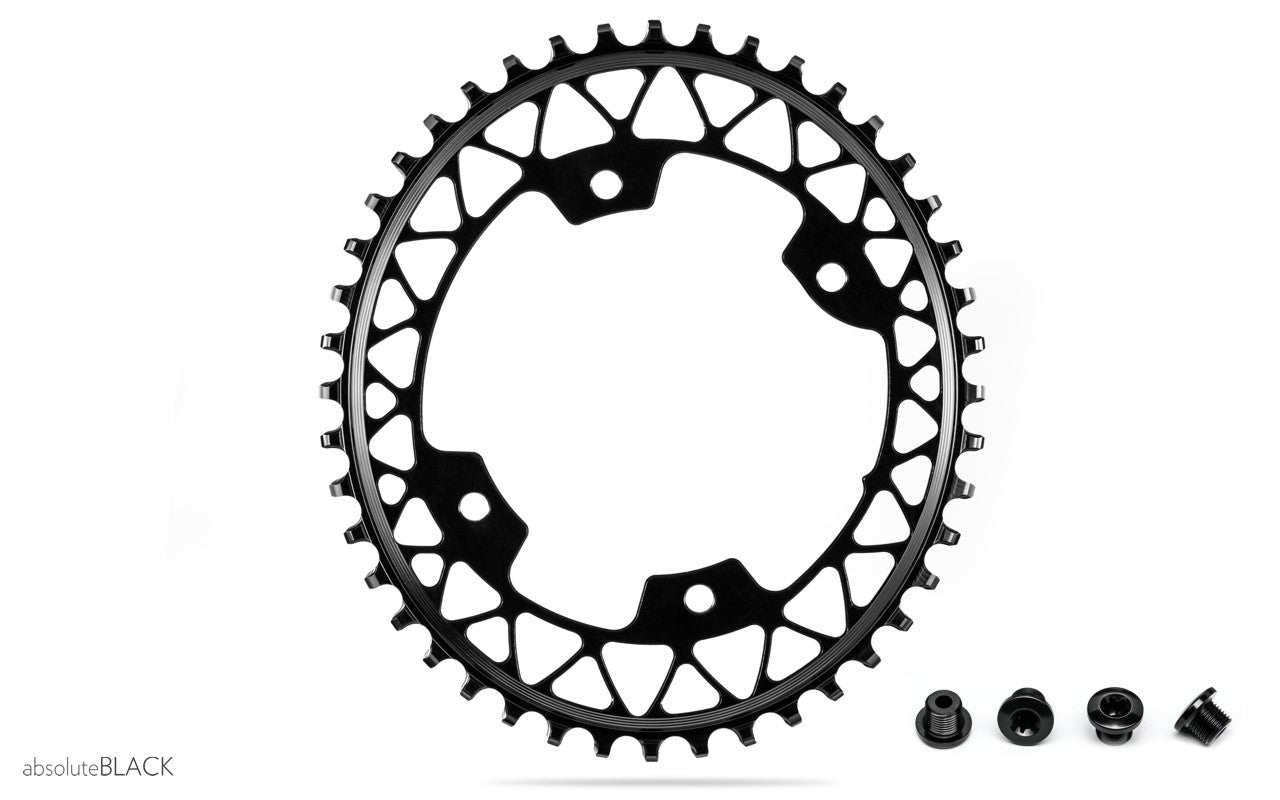 AbsoluteBLACK Oval Gravel Chainring for Shimano Cranksets - RideCX cyclocross store