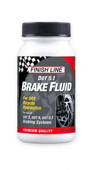Finish Line Bicycle Brake Fluid, DOT 3/4/5.1, 4oz - RideCX cyclocross store