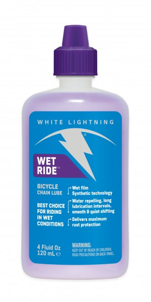 White Lightning Wet Ride 4oz Chain Lube - RideCX cyclocross store