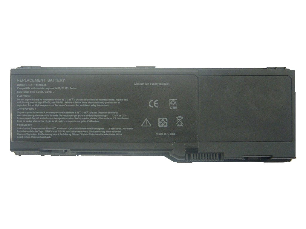 451-10424: Lithium Ion Laptop Battery for Dell Inspirion 1501, 6400, E1505, 131L, Vostro 1000 (BDEL-117G)
