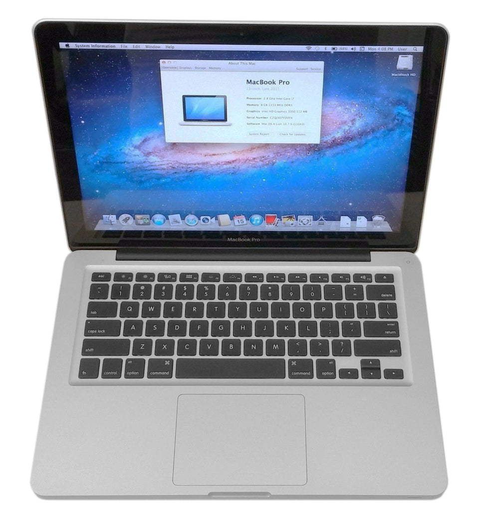 Apple Macbook Pro 13 Inch Late 2011 Version MD314LL/A i7 2640M 2.8Ghz 8GB DDR3