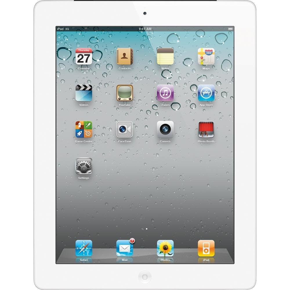 Apple iPad 2nd Gen White 64GB WiFi + AT&T -  A1395 MC994LL/A