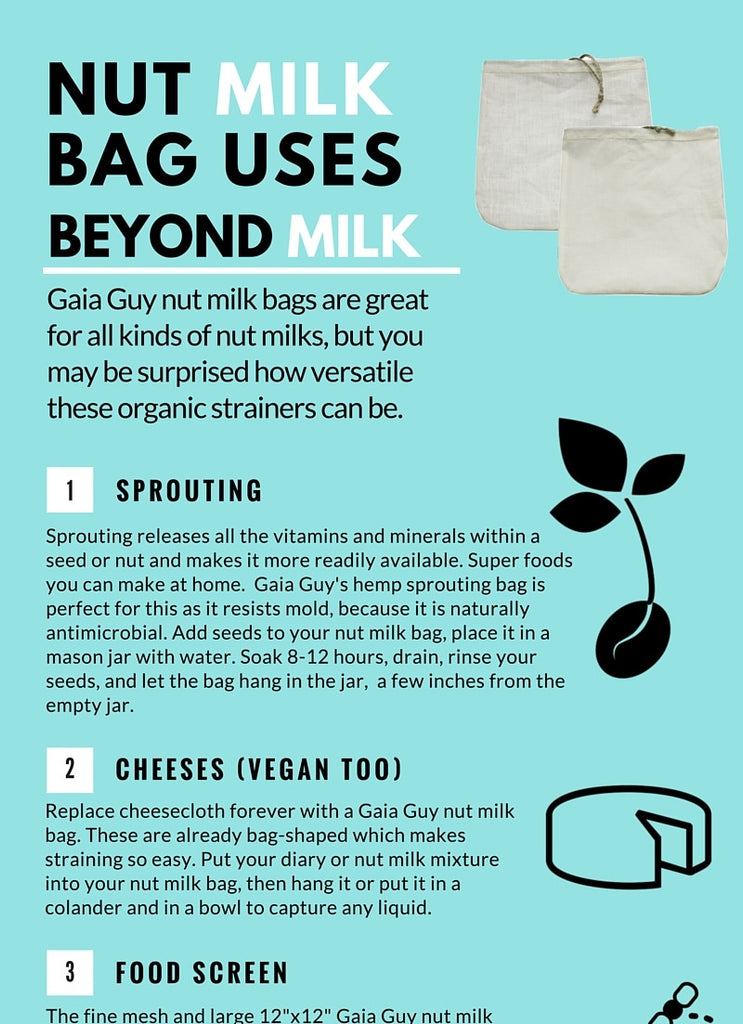 Nut Milk Bag Alternative Uses (Infographic)