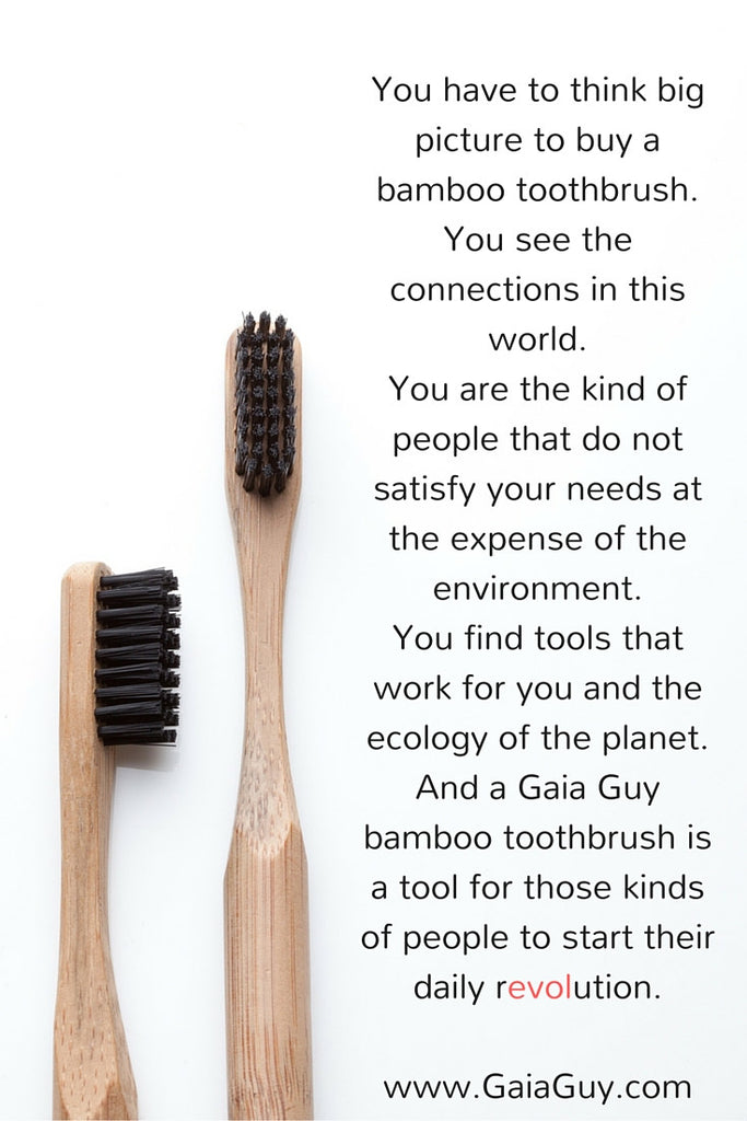 Bamboo Toothbrush People See Connections