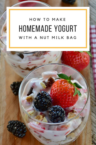 How to Make Homemade Yogurt (Easy With a Nut Milk Bag)