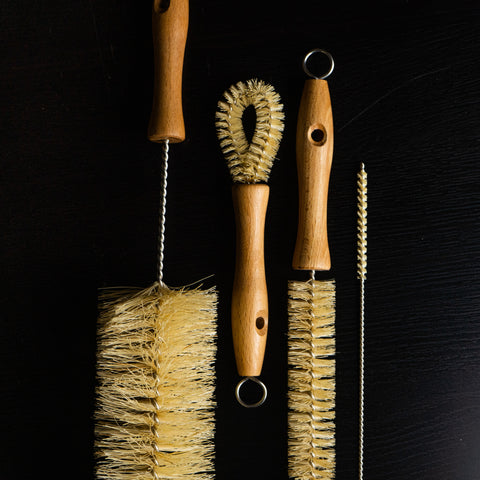 All Natural Bottle Brush and Straw Set (NO PLASTIC) 100%天然 ボトルブラシ