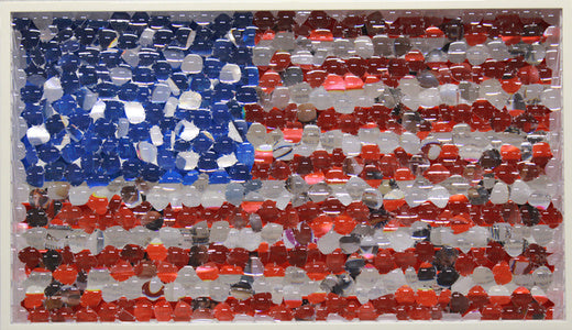 american flag recycled glasses