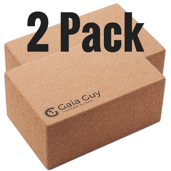 2 Cork Yoga Blocks - Ultimate Sustainable Yoga Prop