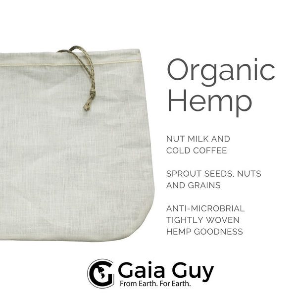 organic hemp nut milk bag