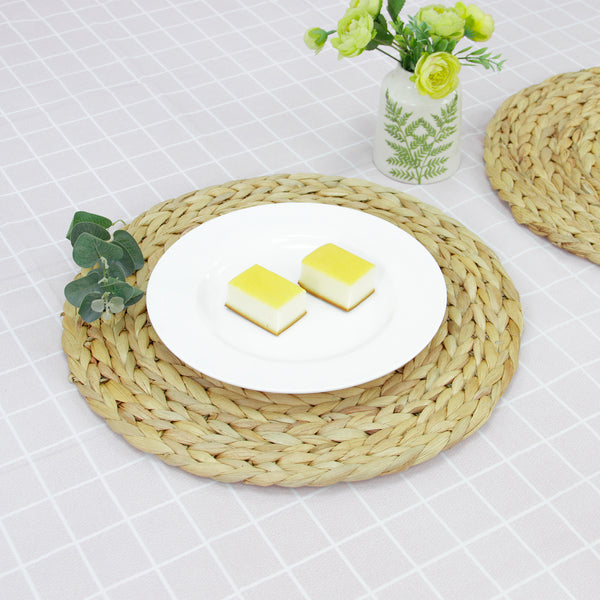 Handmade Water Hyacinth Placemats - Round Woven Place Mats - All Natural Materials - For Your Dining Table and More